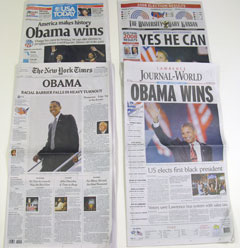image of newspapers laid flat