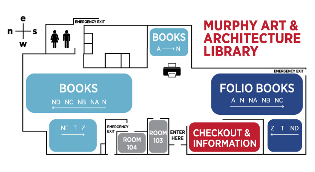 Art & Architecture Library Floorplan