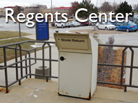 Regents Center Library bookdrop