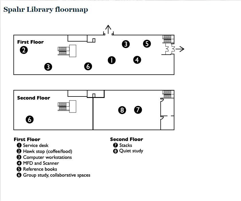 Spahr floormap - first and second floors
