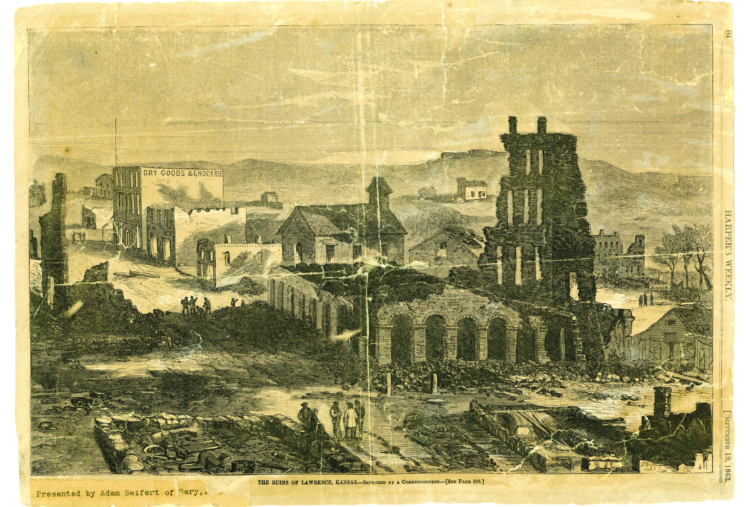 Lawrence after the raid (Kansas Collection)