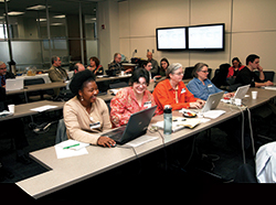 Participants at a Digital Jumpstart Workshop, hosted by the Institute for Digital Research in the Humanities