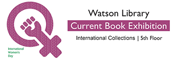 International Women's Day current book exhibit title image