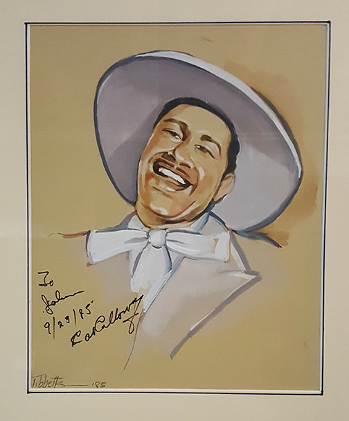 Cab Calloway autographed painting