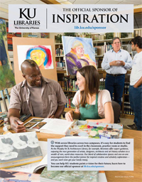 KU Libraries: The Official Sponsor of Inspiration (appeared in March 2014 issue of Kansas Alumni magazine)