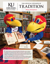 KU Libraries: The Official Sponsor of Tradition (appeared in September 2014 issue of Kansas Alumni magazine)